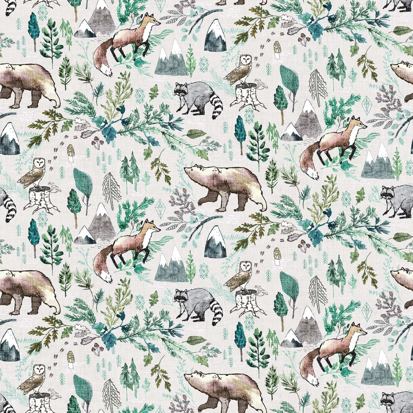 FOREST FABLE TAUPE MULTI Woodland