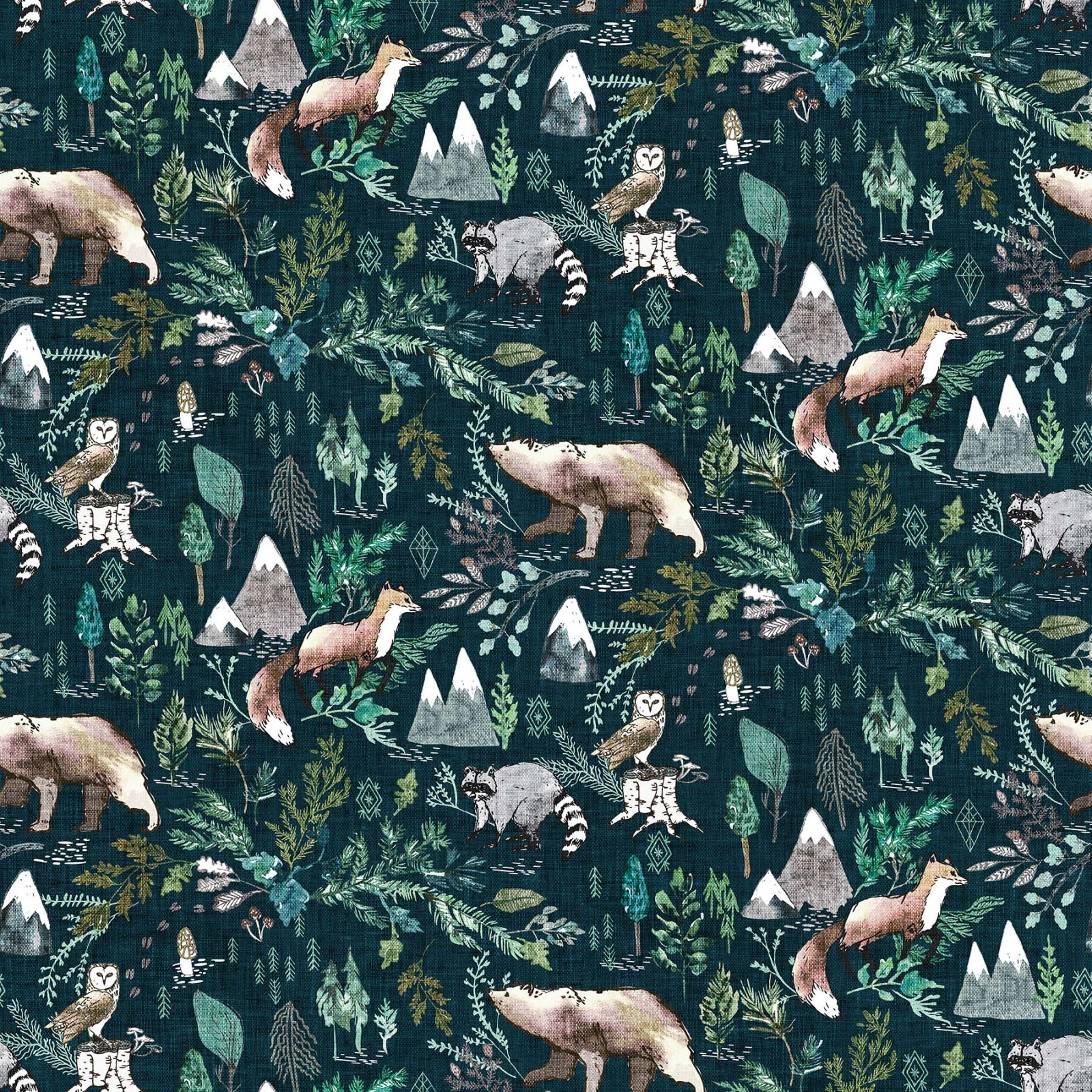 FOREST FABLE NAVY MULTI Woodland