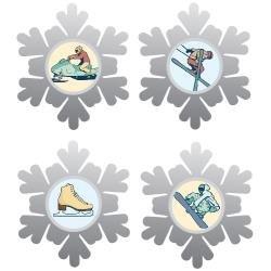 Winter Icon Brads
