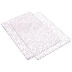 Big Shot Cutting Pads Standard 1 Pair Clear WIth Silver Glitter