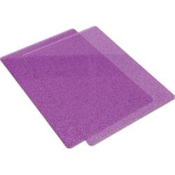 Big Shot Cutting Pads Standard 1 Pair Purple With Silver Glitter