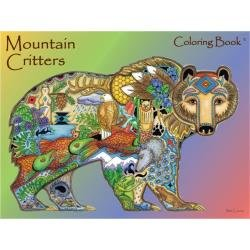 Colouring Book Mountain Critters