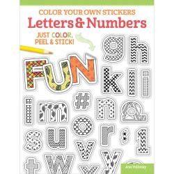 Colouring Stickers Letters & Numbers