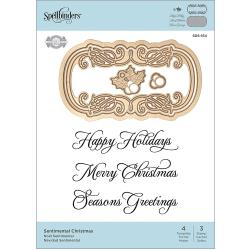 Sentimental Christmas Stamp & Die Set