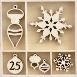 Wooden Flourish Pack Let It Snow
