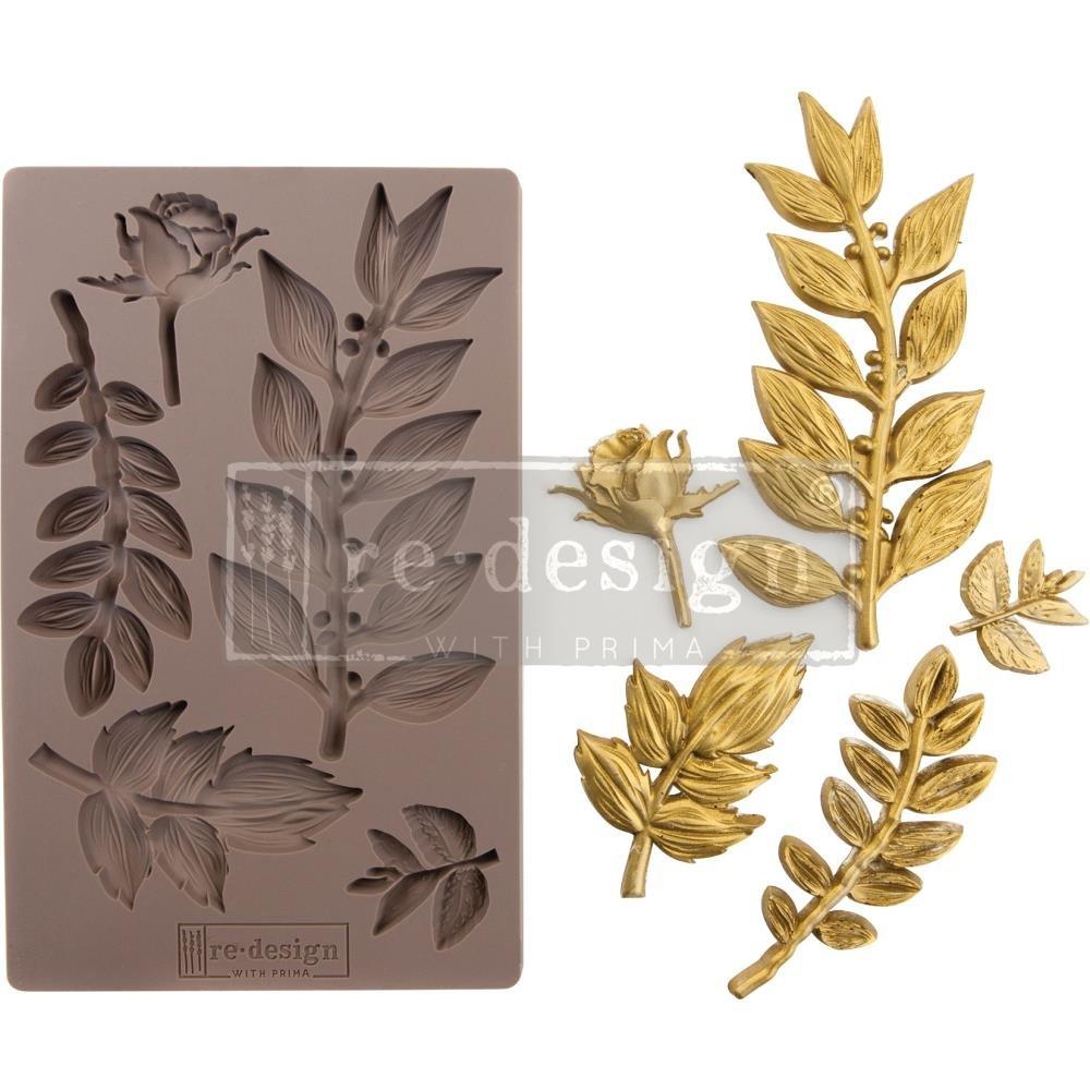 Prima Marketing Re-Design Mould Leafy Blossoms