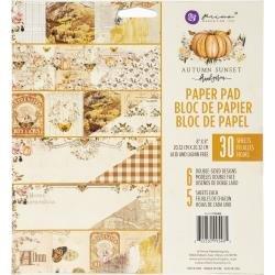 Autumn Sunset Paper Pad 8X8