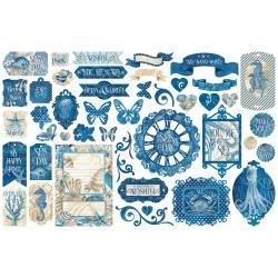 Ocean Blue Cardstock Die-Cut Assortment