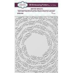 3D Embossing Folder Winter Wreath