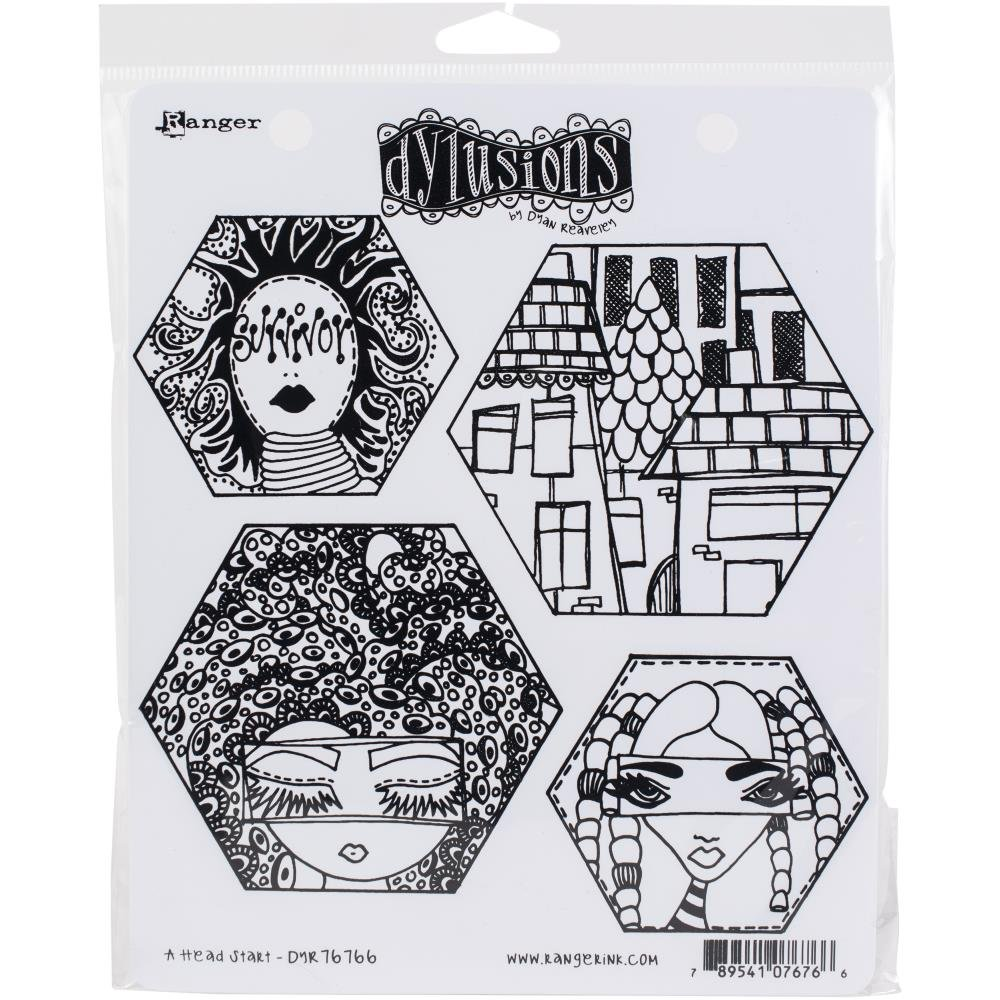 Dylusions Stamp Set A Head Start