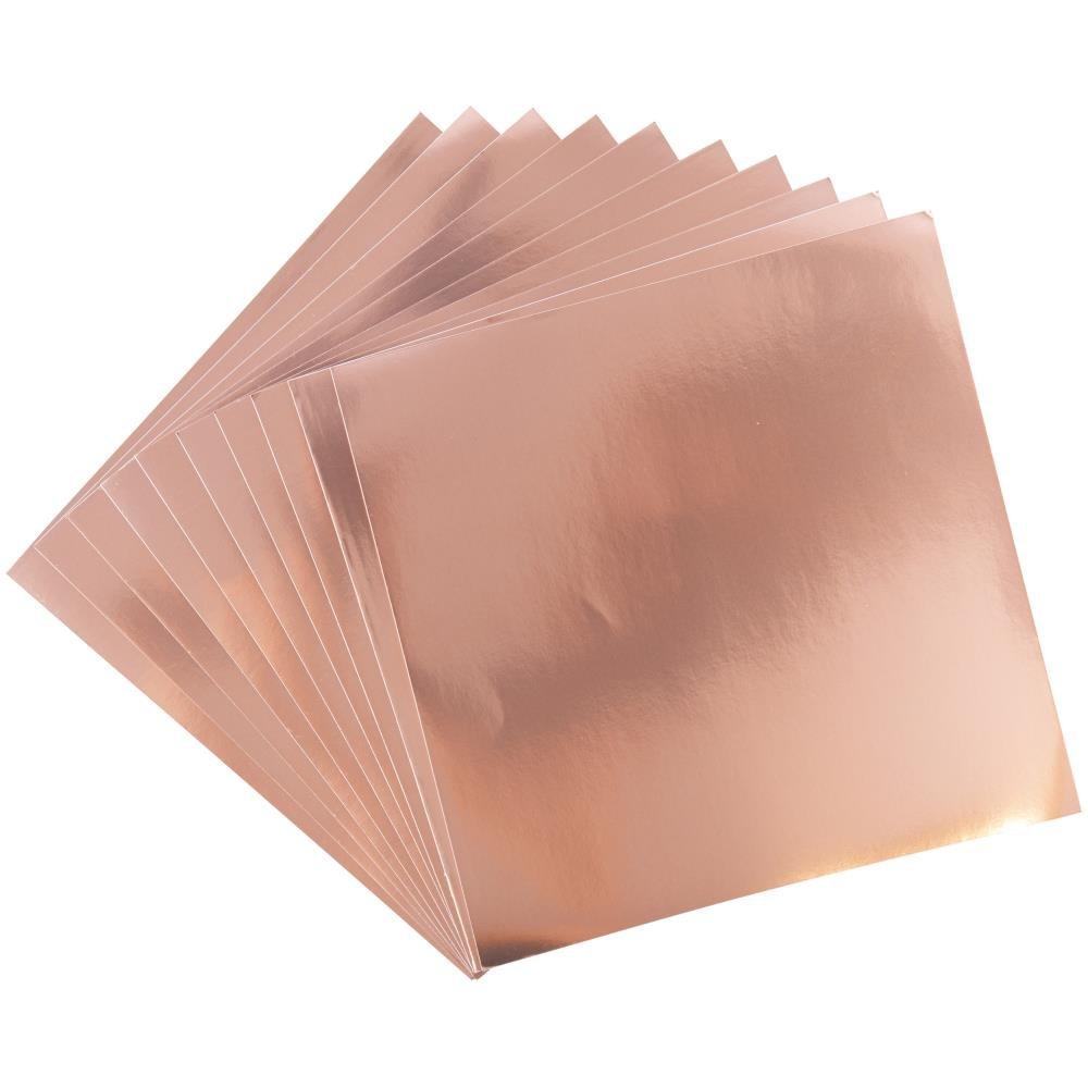 Sizzix Surfacez Aluminum Metal Sheets  Rose Gold