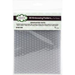3D Embossing Folder 5.75X7.5 Graduated Dots