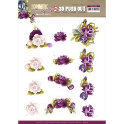 Punchout Sheet Romantic Roses Purple Rose