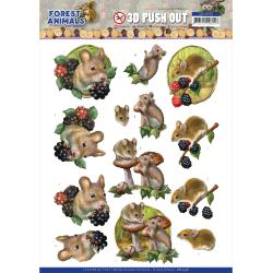 Punchout Sheet Forest Animals Mouse