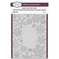 3D Embossing Folder 5.75X7.5 Snowflake Solitude