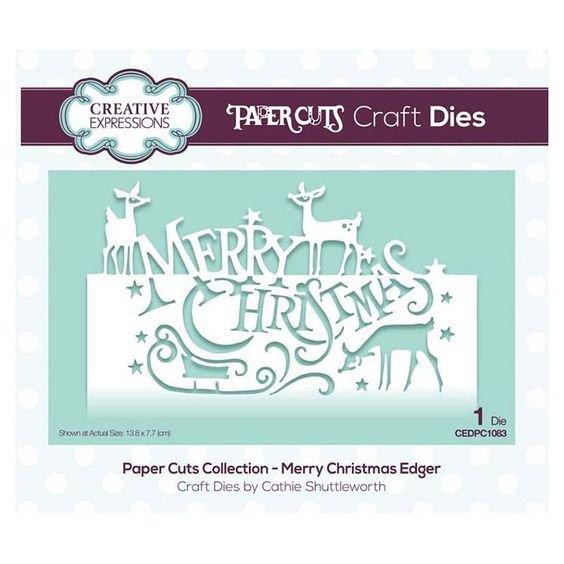 Merry Christmas Edger Die