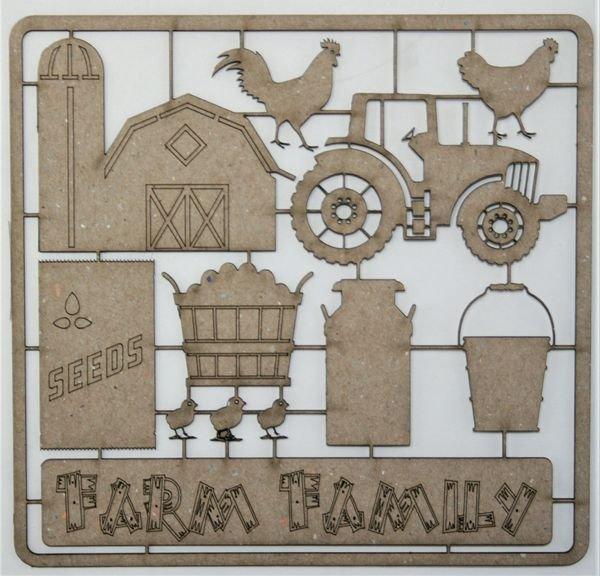 Farm Family Chipboard Set