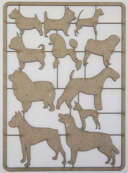 Dog Assortment Chipboard Set