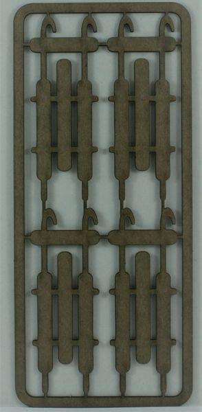 Vintage Sleigh's Lg. Chipboard Set
