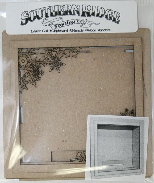 Snowflake Shadow Box Kit White