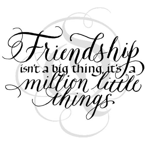 Friendship Isn't A Big Thing Stamp