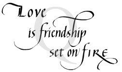 Love Is Friendship Stamp