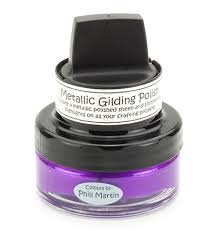 Cosmic Shimmer Metallic Gilding Polish Purple Paradise