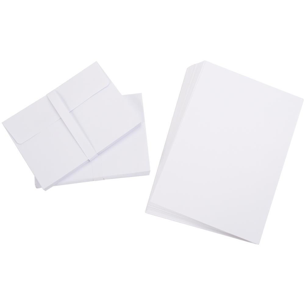 A7 Cards/Envelopes (5.25X7.25) 50/Pkg-White