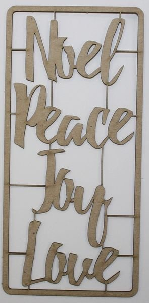 Words of Christmas Chipboard Small