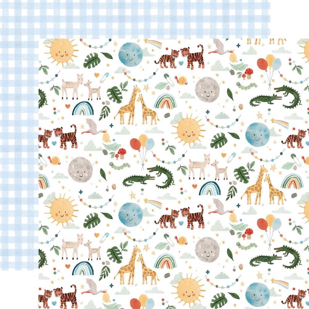 Welcome Baby Boy 12X12 Animals Paper