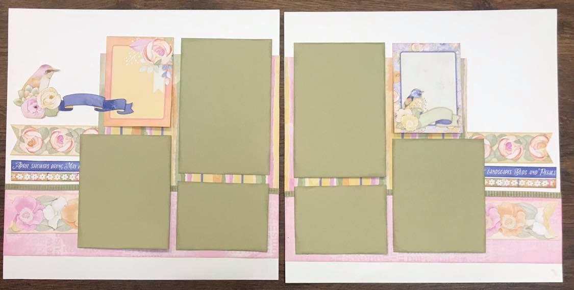 Scrapbook Kit - Gentle Spring