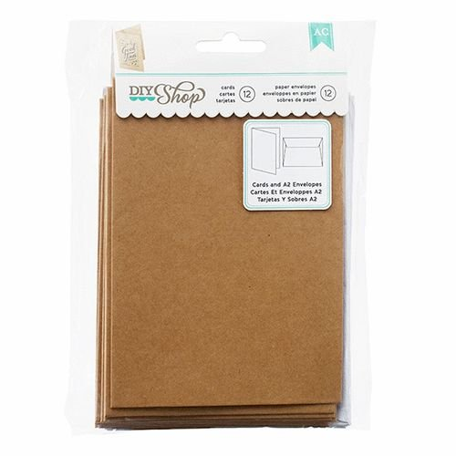 A2 Cards and Envelopes Kraft/White