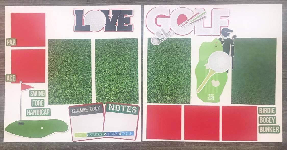 Scrapbook Kit - Love Golf