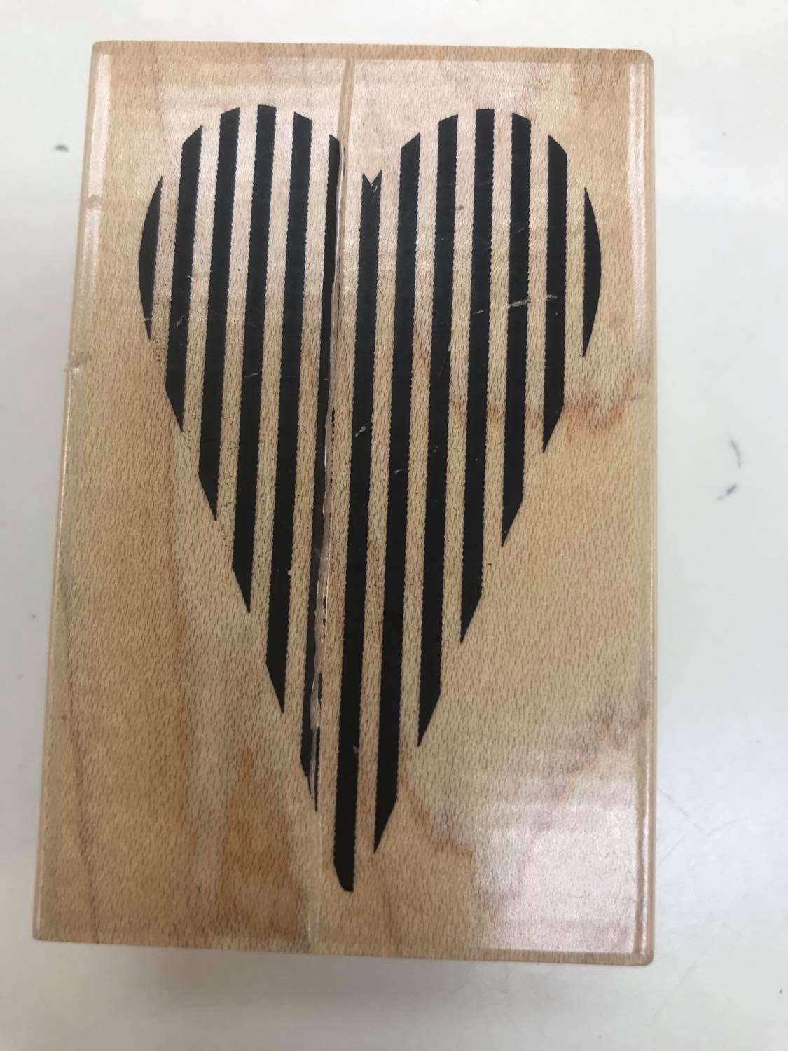 Thinly Striped Heart Stamp