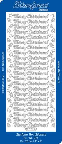 Peel Offs Merry Christmas Gold Stickers