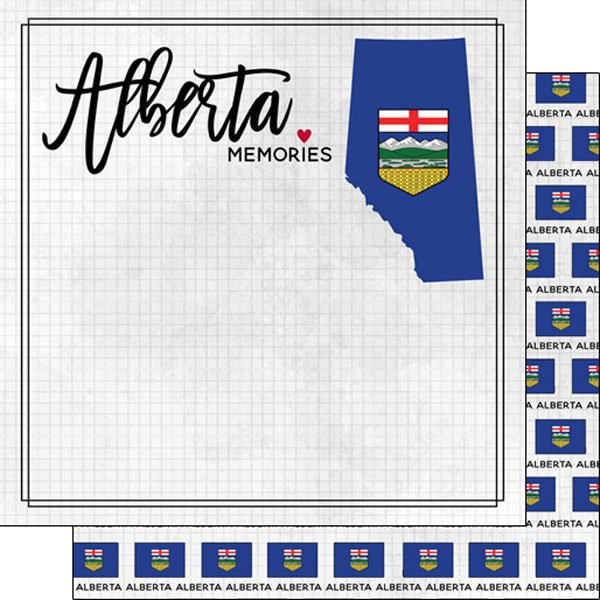 Alberta Adventure Flag Paper