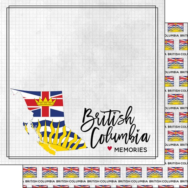 British Columbia Adventure Flag Paper