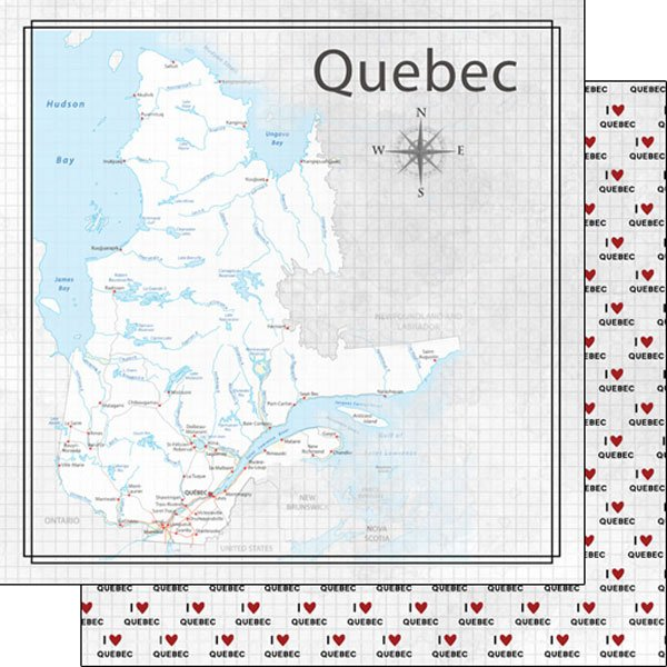 Quebec Adventure Map Paper