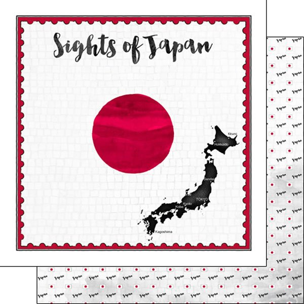Japan Flag Sights Paper