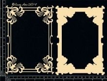 Vintage Frame Layered Chipboard