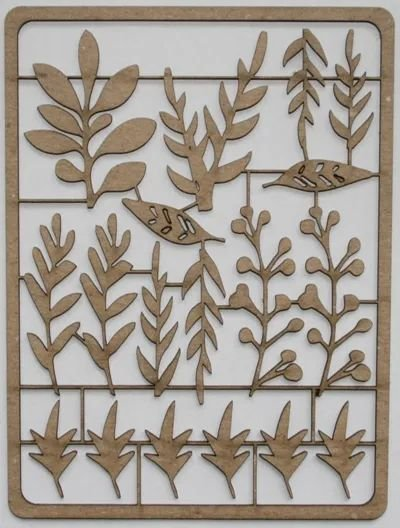 Foliage Pieces Chipboard