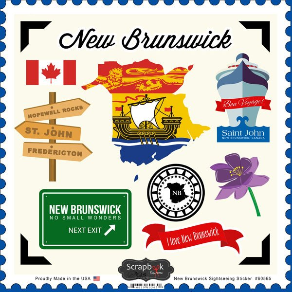 New Brunswick Sightseeing Stickers