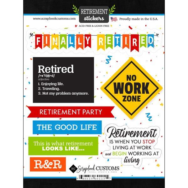 Happy Retirement Stickers