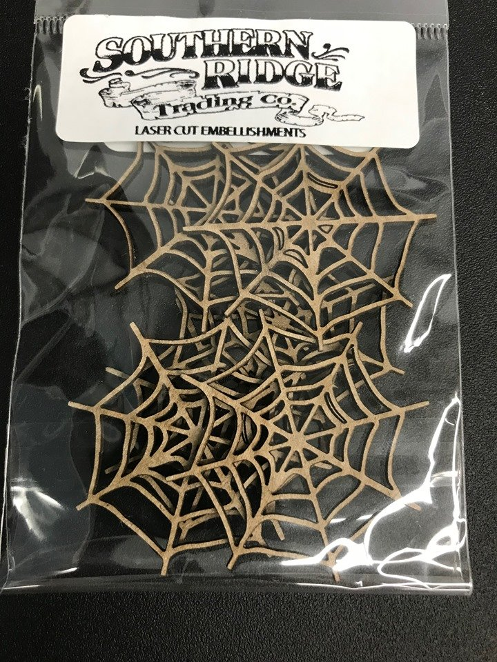 Spider Web Mini Chipboard