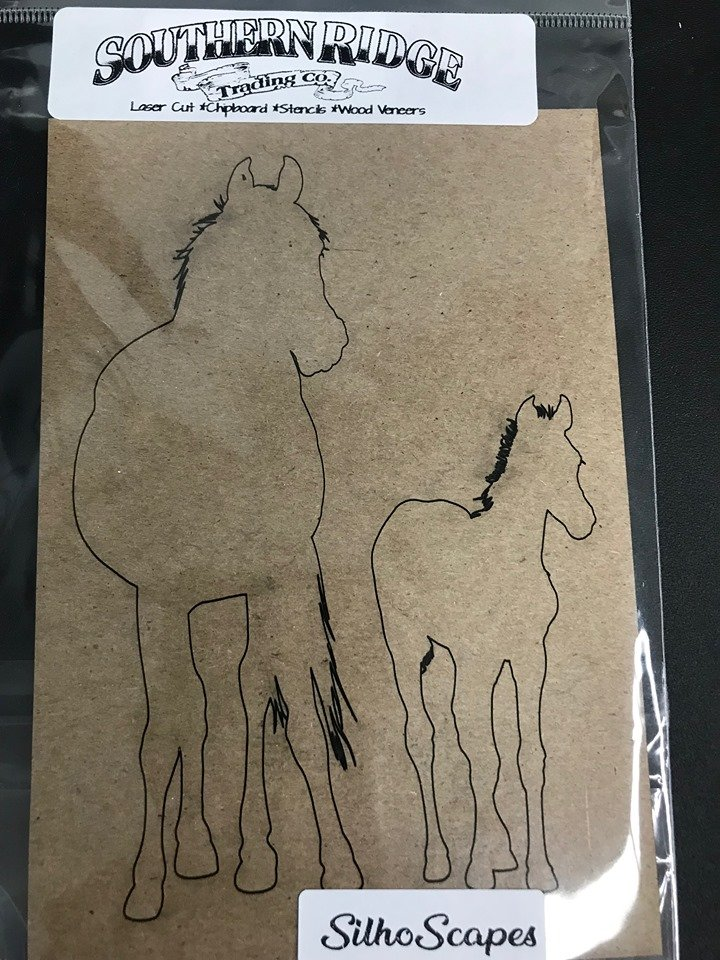 SilhoScapes Mare & Foal Chipboard