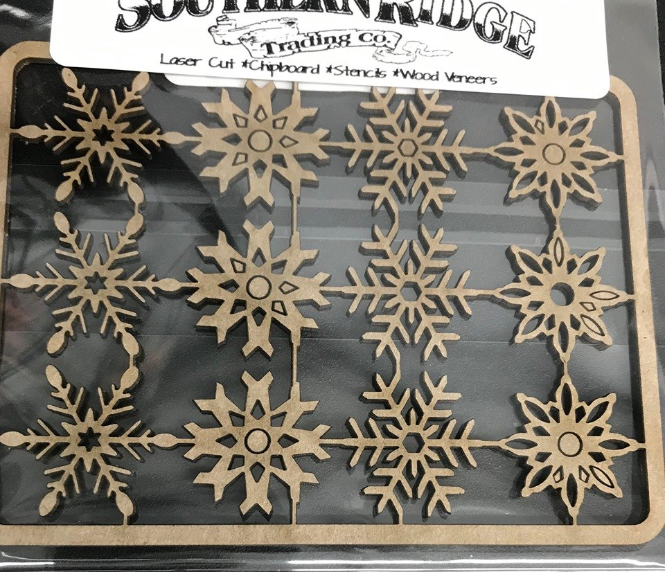 Snowflakes 712 Chipboard
