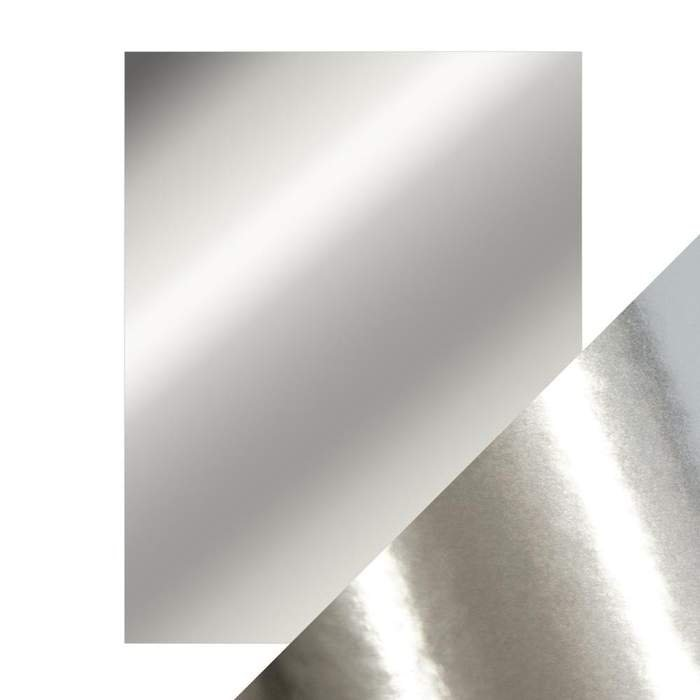 Mirror Cardstock Chrome Silver