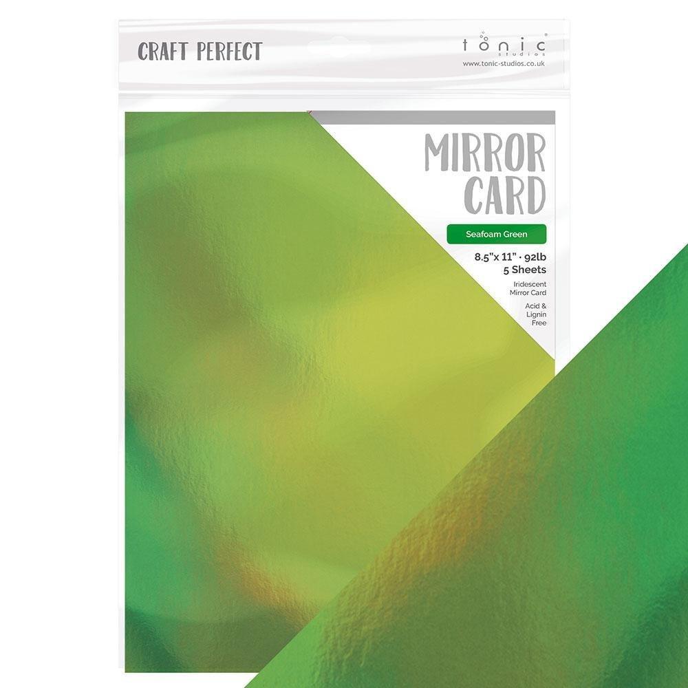 Mirror Cardstock Seafoam Green