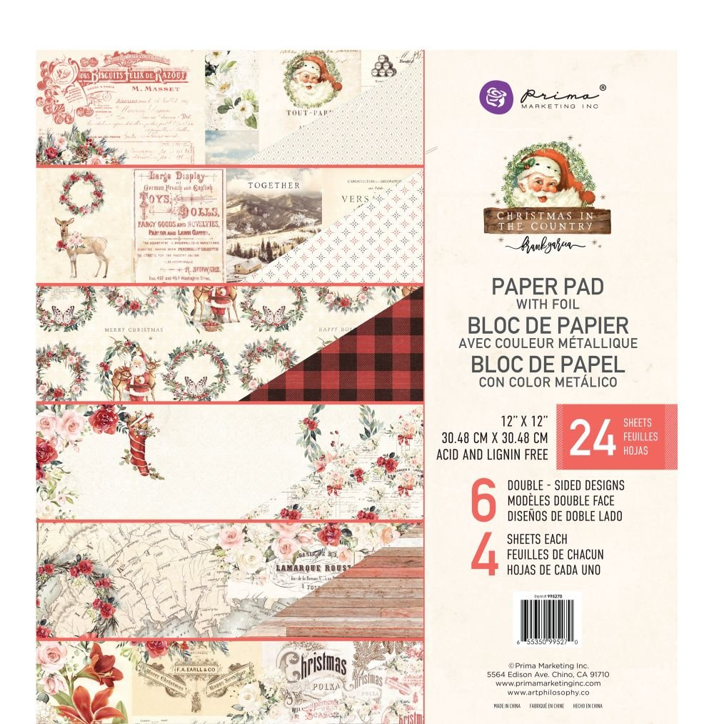 Christmas In The Country Paper Pad 12X12