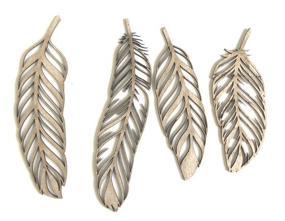 Detailed Feathers Chipboard